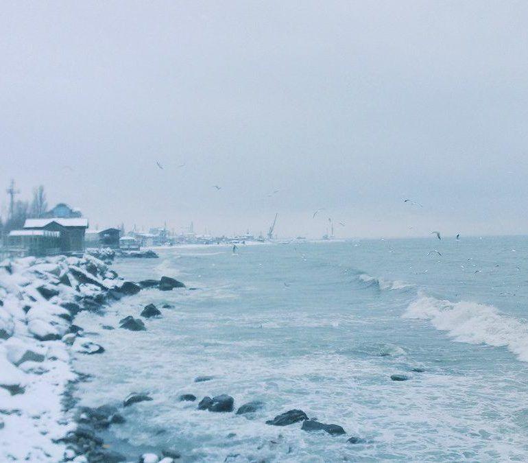Фото Зимний Каспий