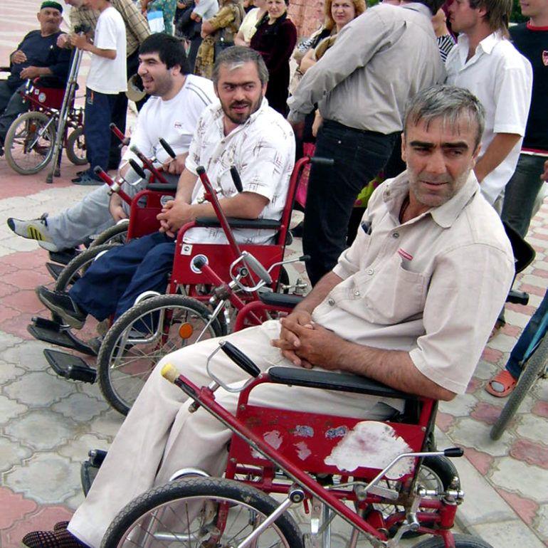 Фото Турнир инвалидов-колясочников