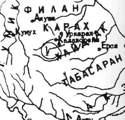Карта истории VI-X вв.