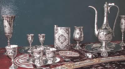 Современные кубачинские изделия из серебра