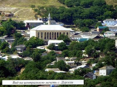 Вид на центральную мечеть с. Дургели