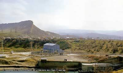 Станция Гельбахской ГЭС с видом на гору Сангар